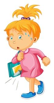 Dziewczyna niosąca nóż w torbie