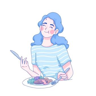 Dziewczyna o śniadanie