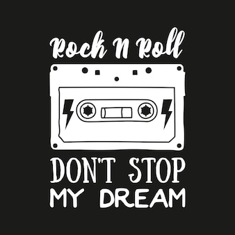 Dziewczyna rocker t shirt design. zestaw do haftowania w stylu gwiazdy rocka
