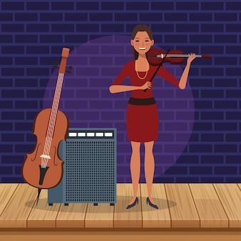 Dziewczyna skrzypaczka, zespół jazzowy