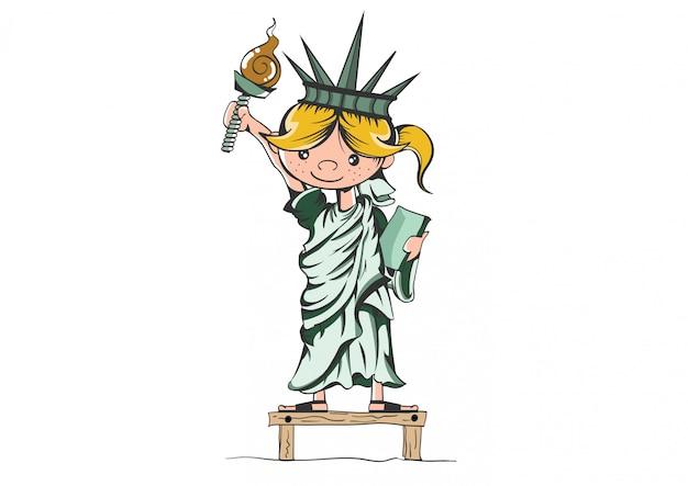 Dziewczyna statua wolności.
