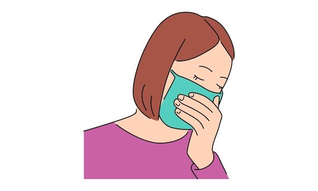 Dziewczyna ubrana w maskę ochronną
