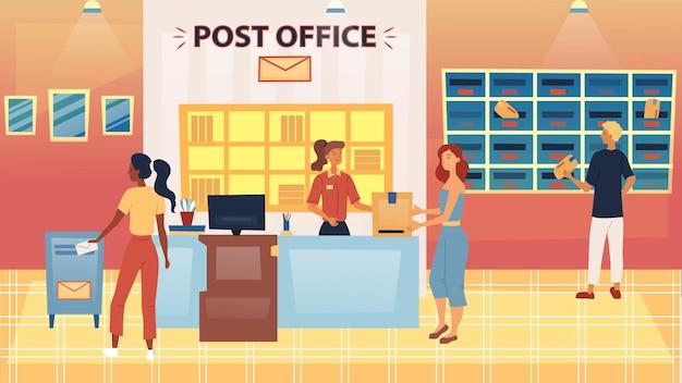 Dziewczyna umieszczanie list do skrzynki pocztowej