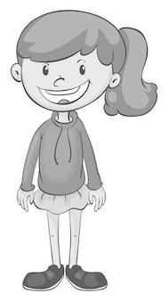 Dziewczyna w czarno-białej pozycji