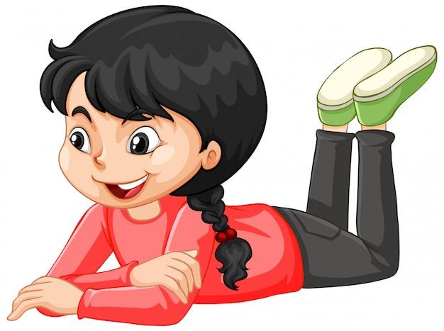 Dziewczyna w czerwonej koszuli