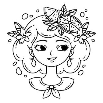Dziewczyna z cytryną dziewczyna z lemoniadą.