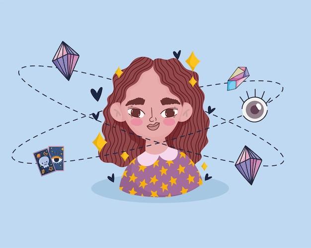 Dziewczyna z magicznymi ikonami