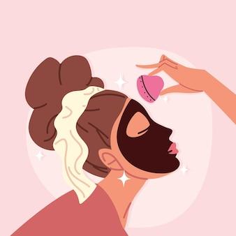 Dziewczyna z maską do pielęgnacji skóry