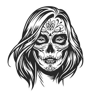 Dziewczyna z meksykańskiego dnia martwego