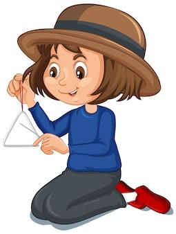 Dziewczyna z trójkątem