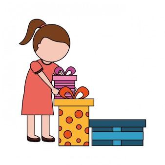 Dziewczyna z wielu prezentów urodzinowych