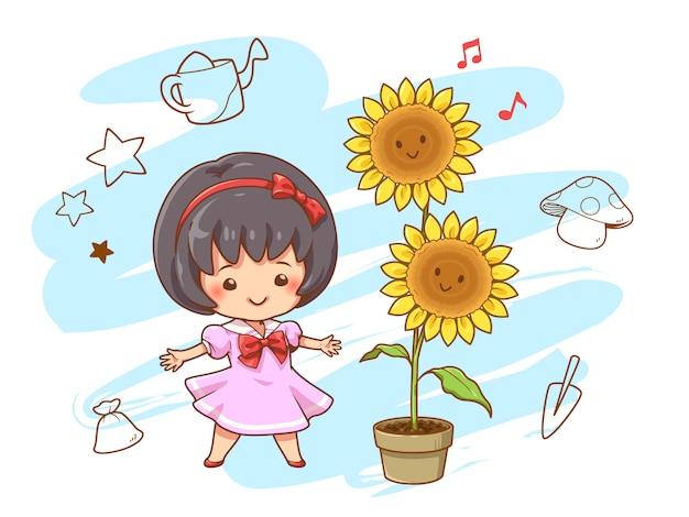 Dziewczyna ze słonecznikiem