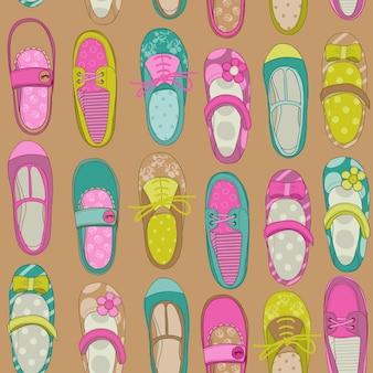 Dziewczynka buty tło