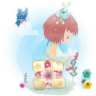 Dziewczynka malowana akwarelą