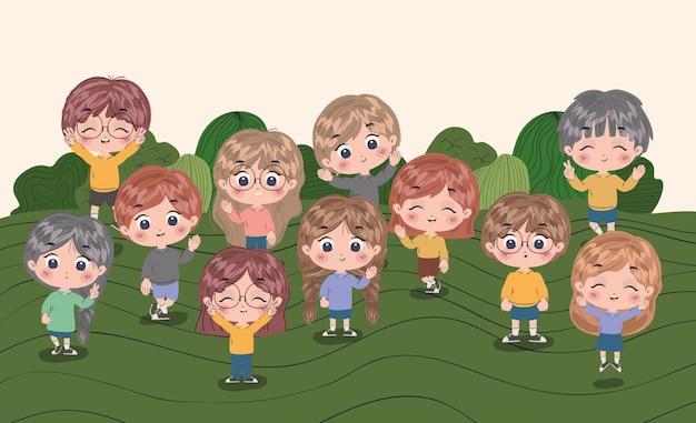 Dziewczyny i chłopcy bajki ilustracji