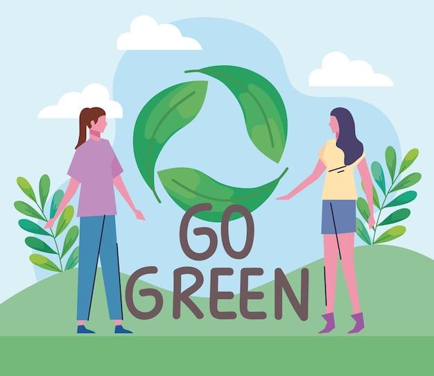 Dziewczyny i idź na zielono