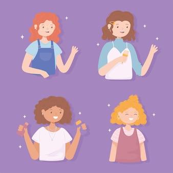 Dziewczyny z kręconymi włosami