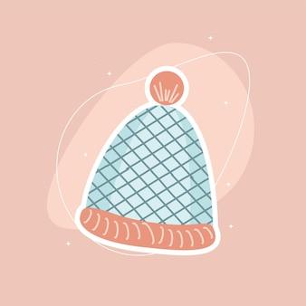 Dziewiarska czapka zimowa