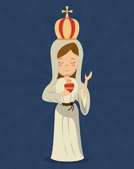 Dziewica maryja święta religia niepokalanego serca