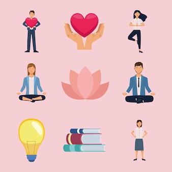 Dziewięć ikon dobrego samopoczucia w biurze