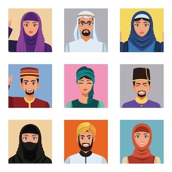 Dziewięć osób muzułmańskich