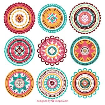Dziewięć piękne mandale