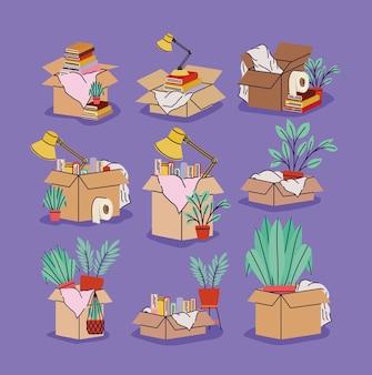 Dziewięć ruchomych pudeł