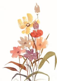Dzika kwiatowa sztuka akwareli