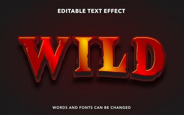 Dziki efekt edytowalnego tekstu