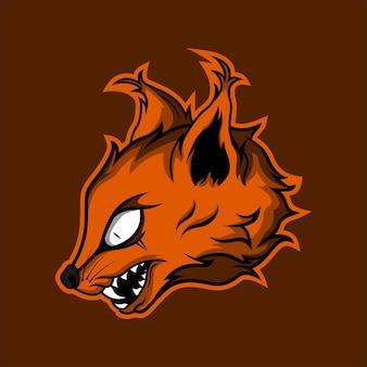 Dziki kot karakal głowa projekt logo maskotki do gier premium vector