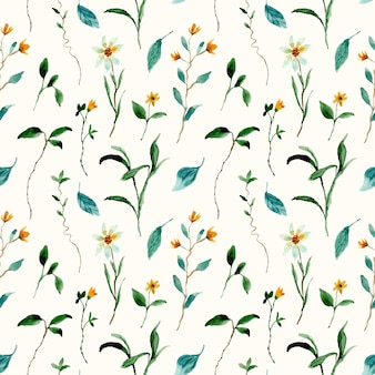 Dziki kwiat łąka akwarela wzór