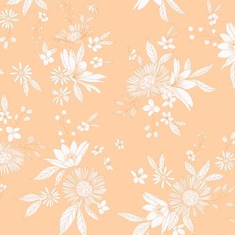 Dziki kwiatowy wzór grona