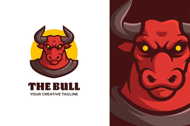 Dzikie logo maskotki red bull