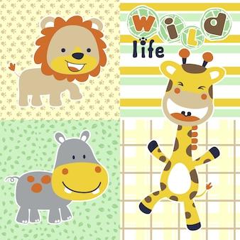 Dzikie życie z kreskówki śmieszne zwierzęta