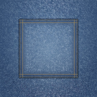 Dżinsowa tekstura z kwadratową kieszenią