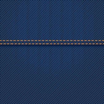 Dżinsowa tekstura z szwem