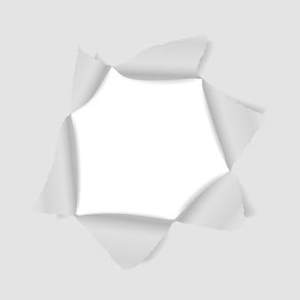 Dziura w papierze. szablon do kreatywnego projektowania.