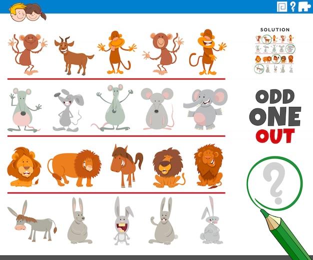 Dziwna gra z zabawnymi postaciami ze zwierzętami