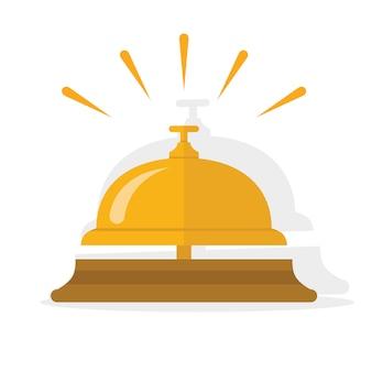 Dzwonek hotelowy, dzwonek serwisowy, ikona dzwonka recepcyjnego