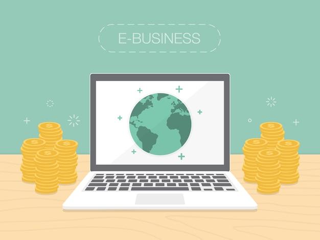 E-biznes wzór tła