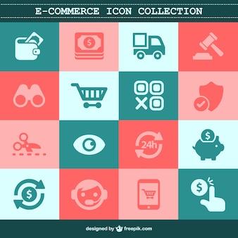 E-commerce płaskie zestaw