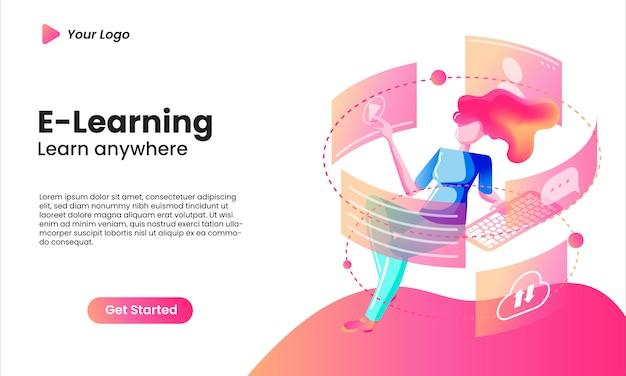 E-learningowa koncepcja izometrycznej strony docelowej