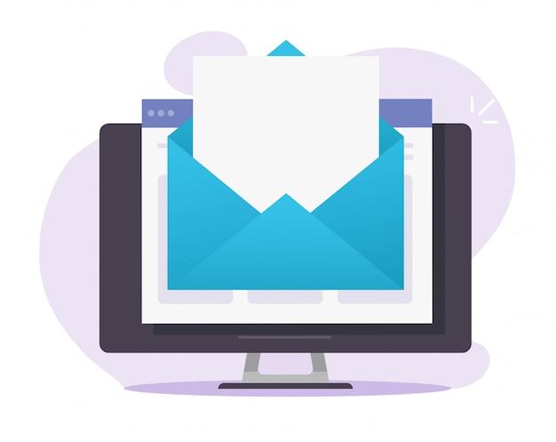 E-mail poczta elektroniczna list koperta biuletyn online ikona cyfrowy