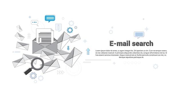 E-mailowa rewizi zawartości cyfrowej informatyki biznesu wektoru ilustracja
