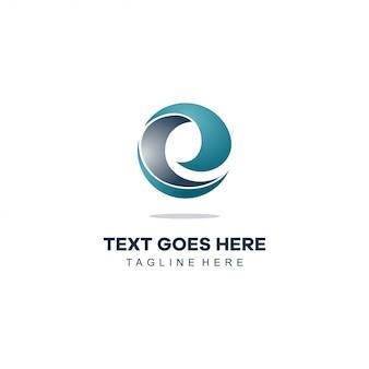 E nowoczesne logo