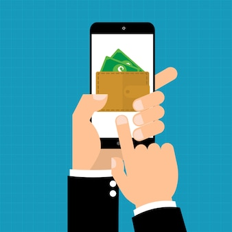 E-portfel na inteligentnym telefonie komórkowym do płatności online