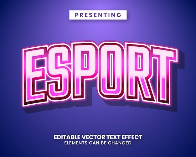 E-sport edytowalny efekt tekstowy