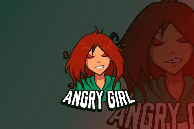 E sport logo projekt zła dziewczyna