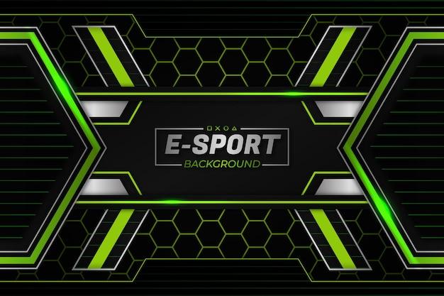 E-sport tło zielony styl