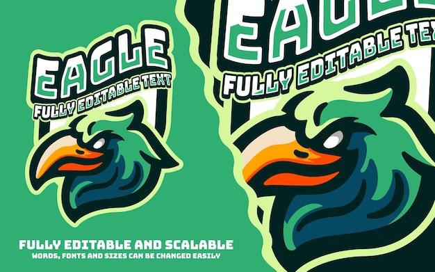 E-sportowe logo maskotki eagle sports